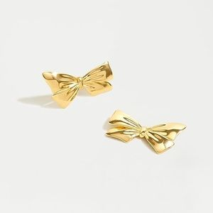 J.Crew Gold bow stud earrings